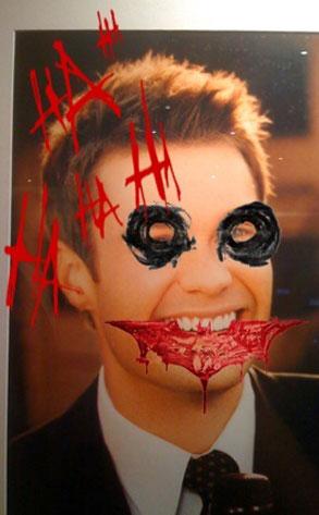 Ryan Seacrest (with Joker paint)