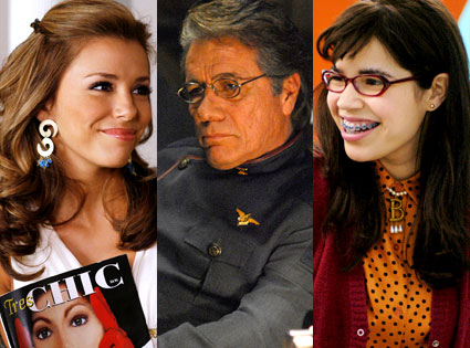 Eva Longoria (Depserate Housewives), Edward James Olmos (Battlestar Galactica), America Ferrera (Ugly Betty)