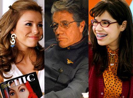 Eva Longoria (Depserate Housewives), Edward James Olmos (Battlestar Galactica), America Ferrera (Ugly Betty)