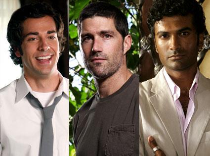 Zachary Levi (Chuck), Matthew Fox (Lost), Sendhil Ramamurthy (Heroes)