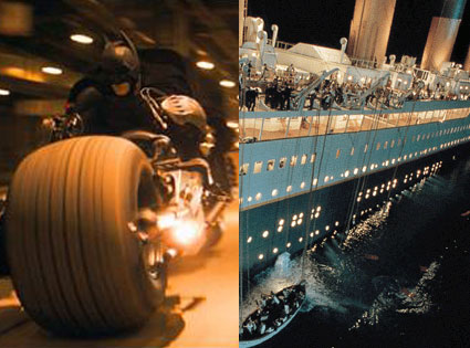 The Dark Knight, Titanic