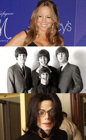 Beatles, Mariah Carey, Michael Jackson