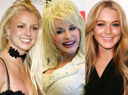 Britney Spears, Dolly Parton, Lindsay Lohan
