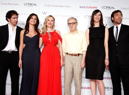 Chris Messina, Penelope Cruz, Scarlett Johansson, Woody Allen, Rebecca Hall, Javier Bardem