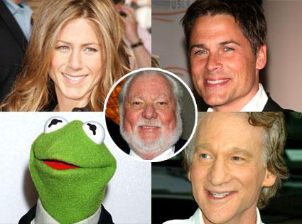 Jennifer Aniston, Rob Lowe, Kermit the Frog, Bill Maher, Bernie Brillstein