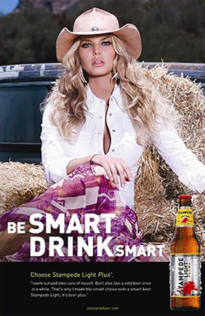 Jessica Simpson Stampede Beer Ad