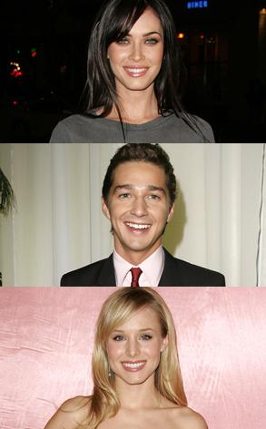 Megan Fox , Shia LaBeouf, Kristen Bell