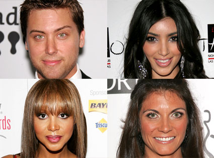 Lance Bass, Kim Kardashian, Toni Braxton, Misty May-Treanor