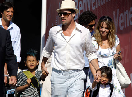 Brad Pitt, Maddox Jolie-Pitt, Pax Jolie-Pitt