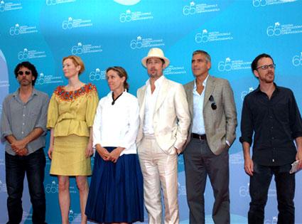 Ethan Cohen, Tilda Swinton, Frances McDormand, Brad Pitt, George Clooney, Joel Cohen