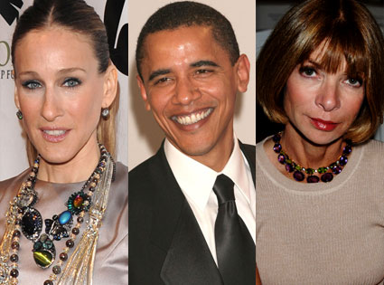 Sarah Jessica Parker, Barack Obama, Anna Wintour