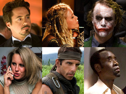 Iron Man, The Wackness, The Dark Knight, American Teen, Tropic Thunder, Traitor
