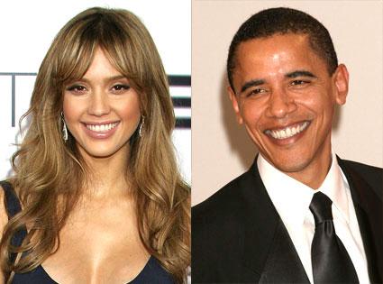 Jessica Alba, Barack Obama
