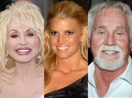 Dolly Parton, Jessica Simpson, Kenny Rogers