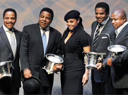 Marlon Jackson, Tito Jackson, Janet Jackson, Jackie Jackson and Randy Jackson