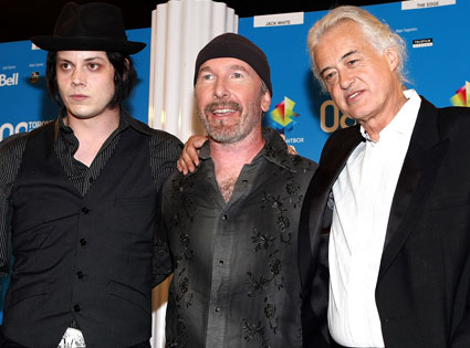 Jack White, The Edge, Jimmy Page