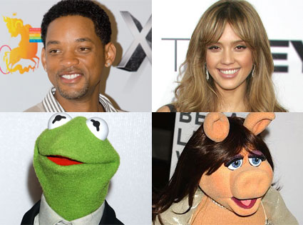 Will Smith, Jessica Alba, Kermit the Frog, Miss Piggy