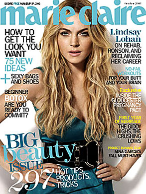 Lindsay Lohan, Marie Claire cover