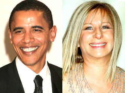 Barbra Streisand, Barack Obama