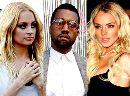 Kanye West, Lindsay Lohan, Nicole Ritchie