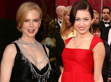 Nicole Kidman, Miley Cyrus