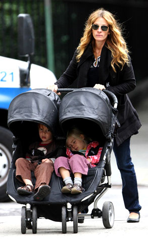 Julia Roberts From Stars Twin Kids E News