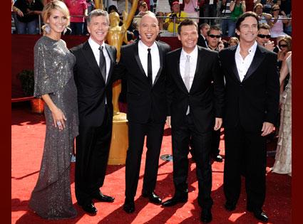 Heidi Klum, Tom Bergeron, Howie Mandel, Ryan Seacrest, Jeff Probst