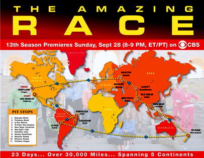 Amazing Race Map