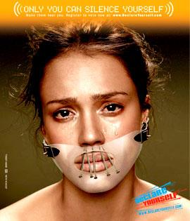 Jessica Alba Declare Yourself ad