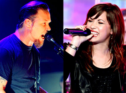 James Hetfield, Demi Lovato