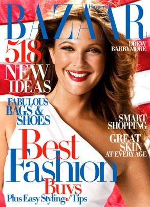 Drew Barrymore, Harper's Bazaar