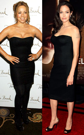 Angelina Jolie, Mariah Carey