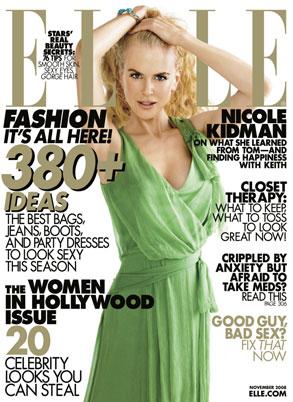 Nicole Kidman, Elle Magazine
