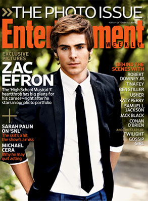 Zac Efron, Entertainment Weekly cover