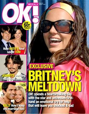 Britney Spears, Ok Magazine Cover