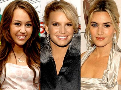 Miley Cyrus, Jessica Simpson, Kate Winslet