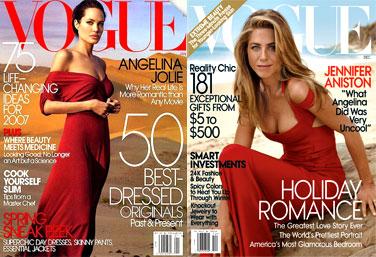 Angelina Jolie, Jennifer Aniston, Vogue Magazine