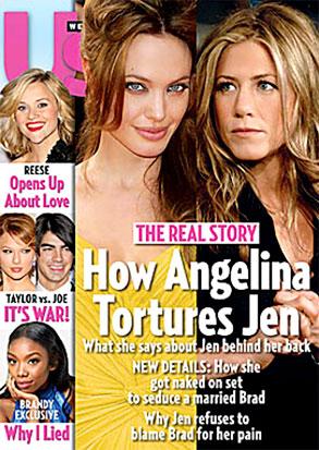 Angelina Jolie, Jennifer Aniston, US Weekly Cover