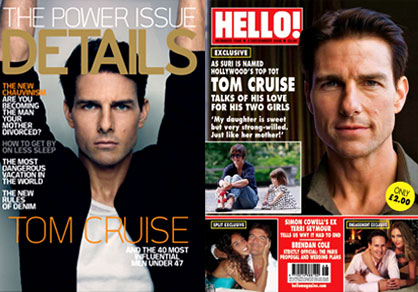 Tom Cruise, Details Magazine, Hello Magazine