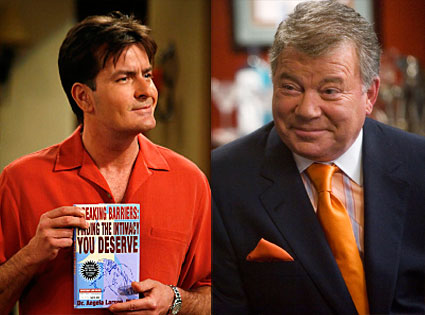 Charlie Sheen (Two and a Half Men), William Shatner (Boston Legal)