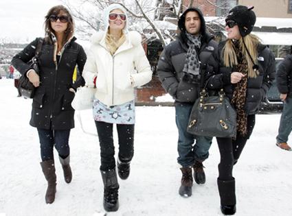 Brittany Flickinger, David Katzenberg, Paris Hilton, Nicky Hilton