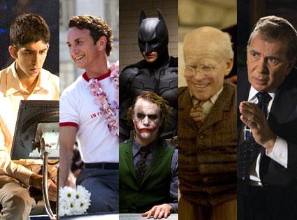 Slumdog Millionaire, Milk, The Dark Knight, The Curious Case of Benjanmin Button, Frost/Nixon