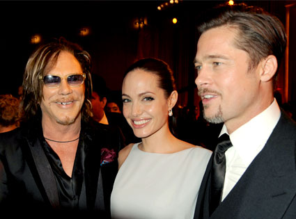 Brad Pitt, Angelina Jolie, Mickey Rourke
