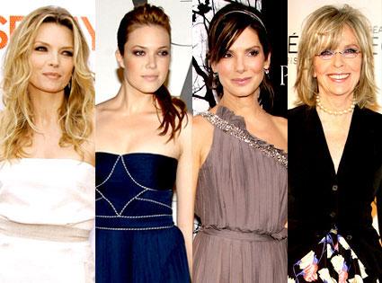 Michelle Pfeiffer, Mandy Moore, Sandra Bullock, Diane Keaton