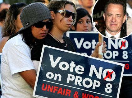 Tom Hanks, Proposition 8 Protestors