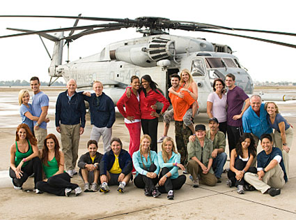 Amazing Race, Season 14, Amanda and Kris, Mel and Mike, Lakisha and Jen, Preston and Jennifer, Margie and Luke, Brad and Victoria; Sitting from LtoR: Cara and Jaime, Mark and Mike, Christie and Jodi, Steve and Linda, Tammy and Victor
