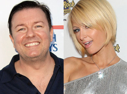 Ricky Gervais, Paris Hilton