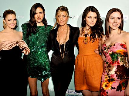 Drew Barrymore, Jennifer Connelly, Jennifer Aniston, Ginnifer Goodwin, Scarlett Johansson