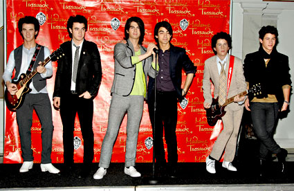 Jonas Brothers Wax Figures
