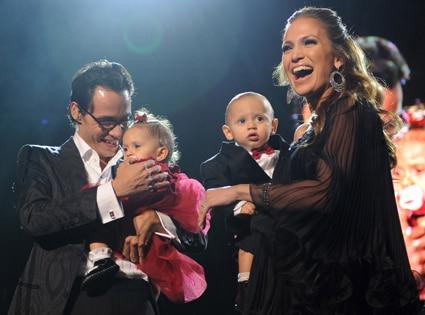 Marc Anthony, Jennifer Lopez, Max Anthony, Emme Anthony